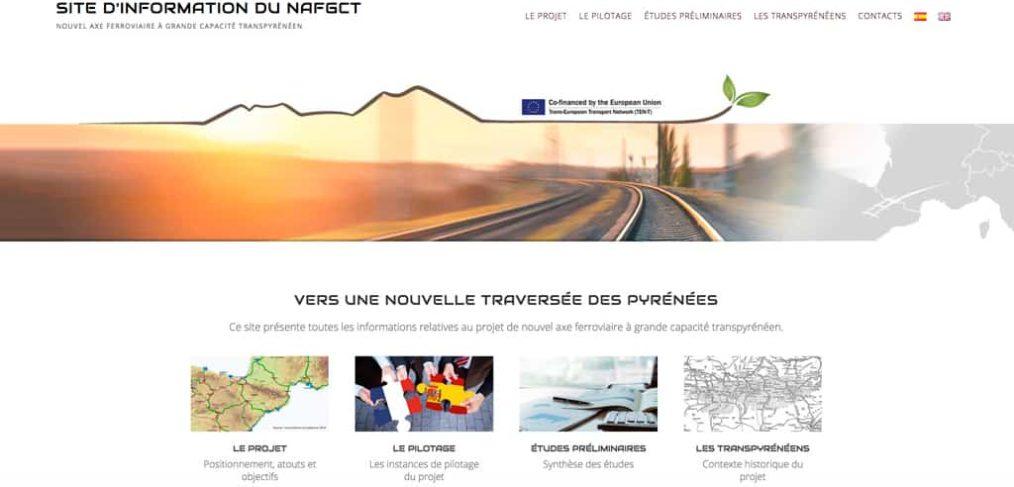 Capture de la page d'accueil du site